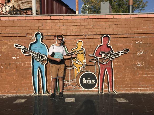 Beatles monument Yekaterinburg