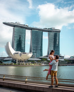 Marina bay sands couple