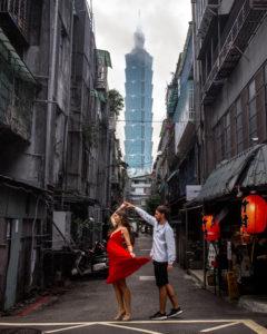 Taipei 101 street lantern