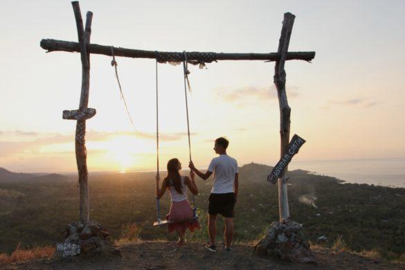 batu kursi sunset