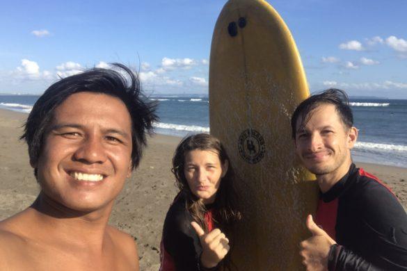 canggu beach surf lesson